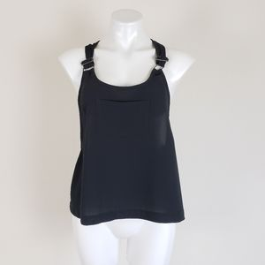 Leith Black Top With a Front Pocket, Size M